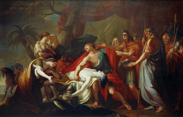 Achilles Lamenting the Death of Patroclus (1760 - 1763)
