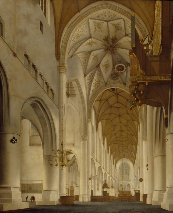 The Interior of St Bavo's Church, Haarlem (the 'Grote Kerk') (1648)