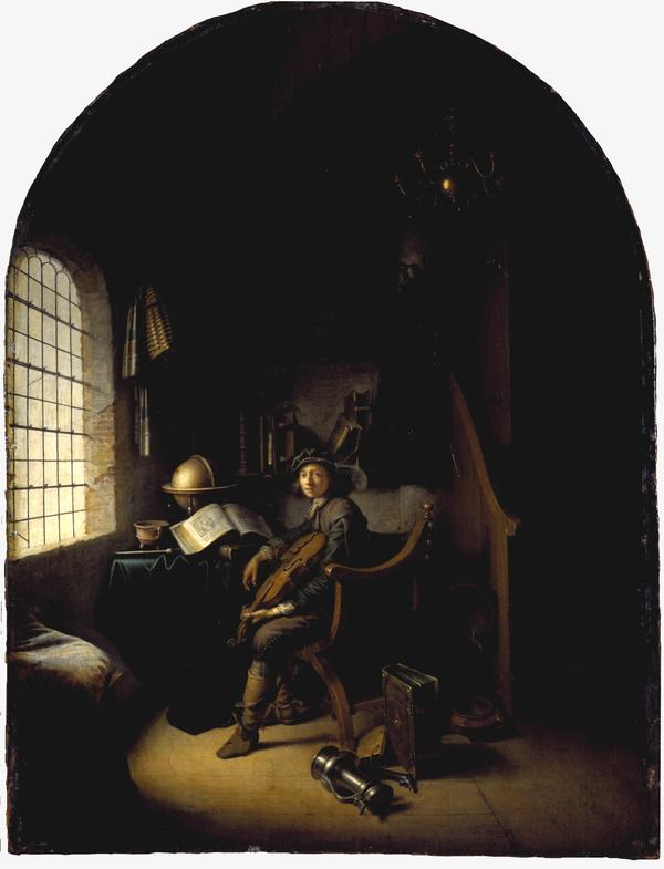 An Interior with a Young Violinist (1637)