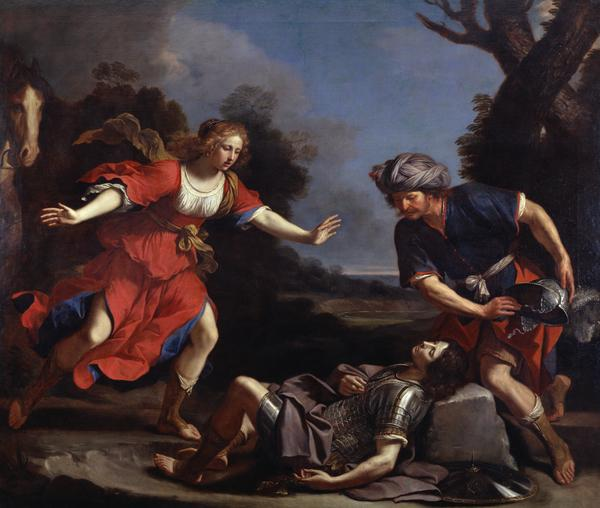 Erminia Finding the Wounded Tancred (About 1650)
