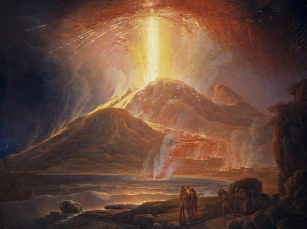 Mount Vesuvius in Eruption