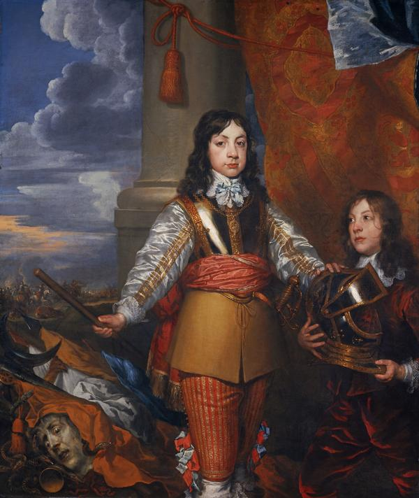 Charles II, 1630 - 1685. King of Scots 1649 - 1685. King of England and Ireland 1660 - 1685 (When Prince of Wales, with a page) (About 1642)