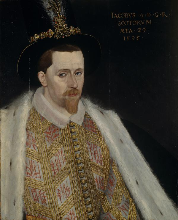 James VI and I, 1566 - 1625. King of Scotland 1567 - 1625. King of England and Ireland 1603 - 1625 (1595)