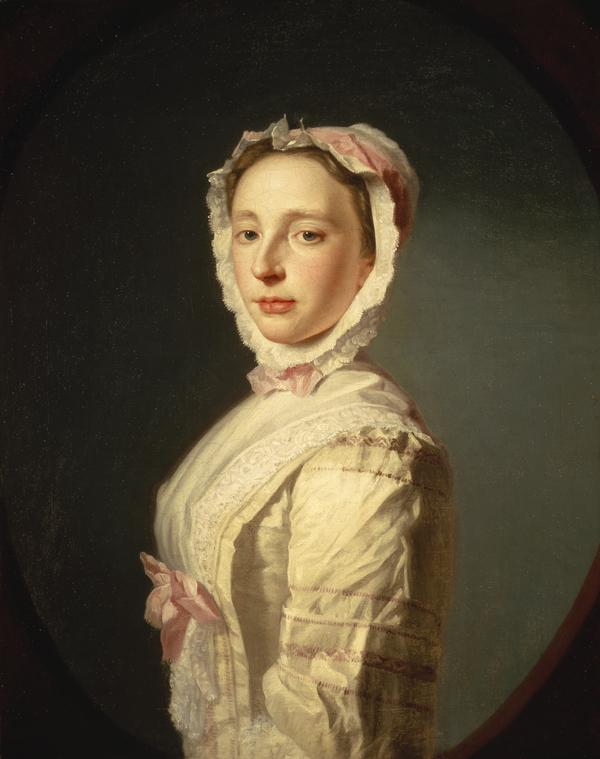 Anne Bayne, Mrs Allan Ramsay, d. 1743. Wife of the artist Allan Ramsay (About 1739)