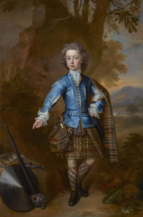 John Campbell, 3rd Earl of Breadalbane, 1696 - 1782. (as a child in highland costume) (1708)