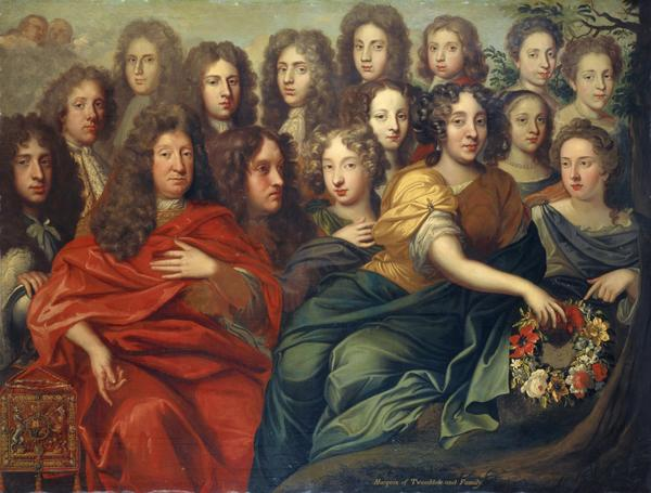 The Family of John Hay, 1st Marquess Tweeddale, 1626 - 1697. Lord High Chancellor of Scotland (About 1695)