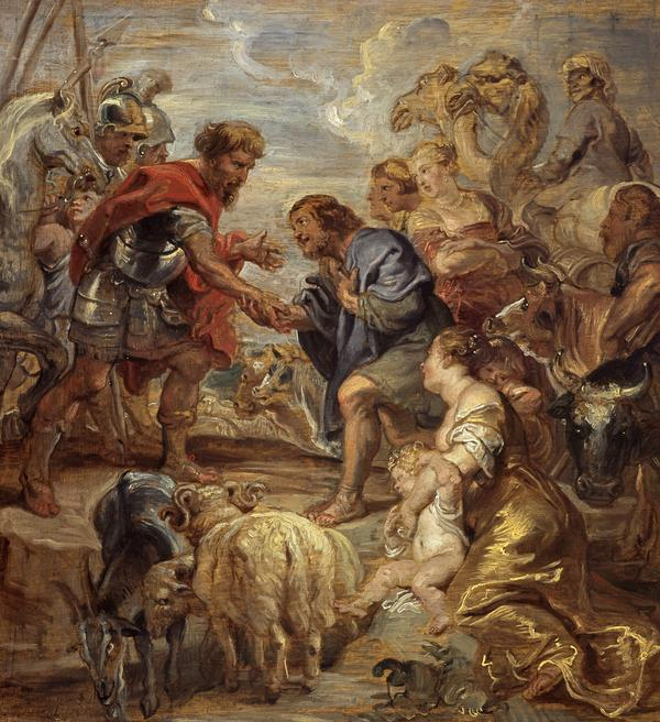 The Reconciliation of Jacob and Esau (About 1625 - 1628)