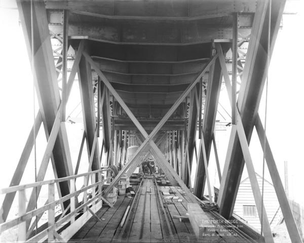 The Forth Bridge. Temporary Platform Inside Viaduct Girders' (September 17th 1885 (printed 2007))