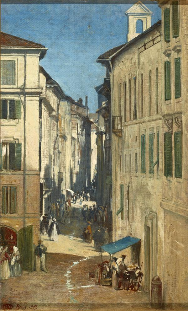 A Street in Rome (Dated 1857)