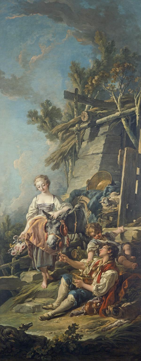 A Pastoral Scene ('L'Offrande a la Villageoise') (Dated 1761)
