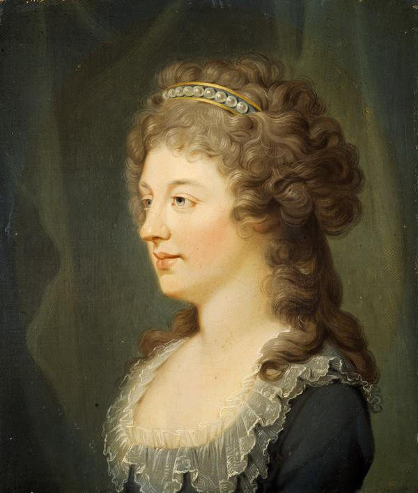 Charlotte Stuart, Duchess of Albany, 1753 - 1789. Daughter of Prince Charles Edward Stuart (About 1785 - 1786)