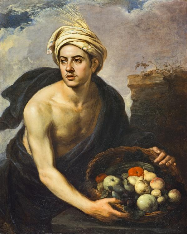 A Young Man with a Basket of Fruit (Personification of 'Summer') (About 1640 - 1650)