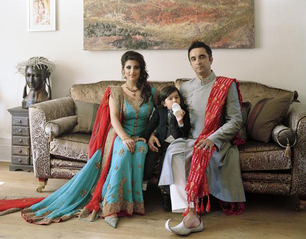 Aamer Anwar with his Family, Glasgow 29 August 2010. From A Scottish Family Portrait series (2010 - 2011)