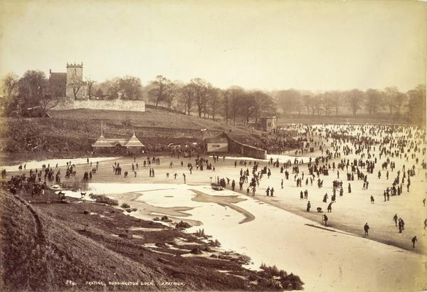 Skating, Duddingston Loch (About 1900)