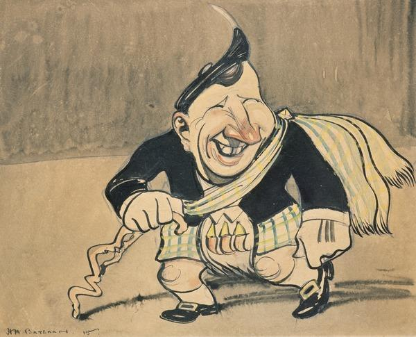 Sir Harry Lauder, 1870 - 1950. Comedian (1915)