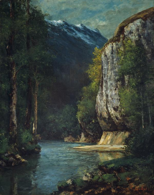 A River in a Mountain Gorge (About 1864)