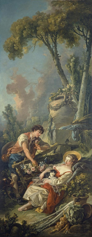 A Pastoral Scene ('La Jardiniere Endormie') (Dated 1762)