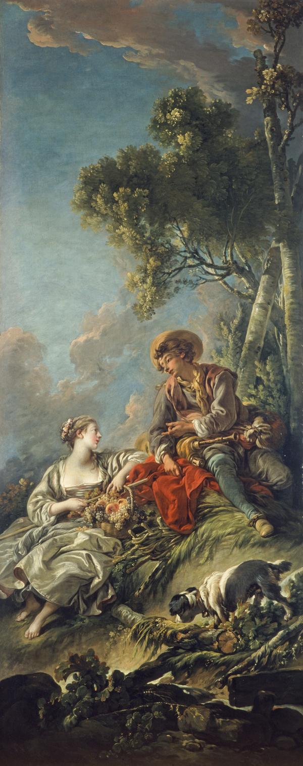 A Pastoral Scene ('L'Aimable Pastorale') (1762)