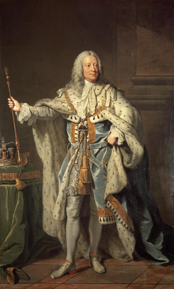 George II, 1683 - 1760. Reigned 1727 - 1760 (1755)