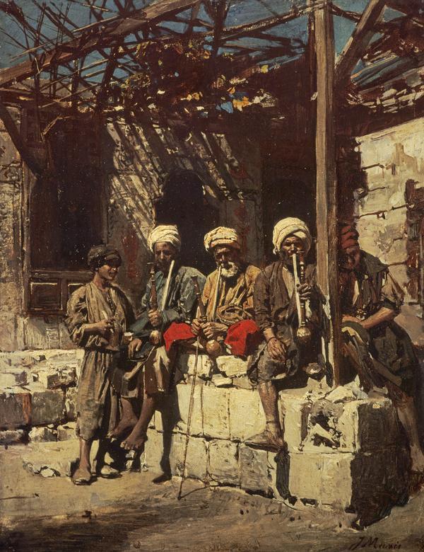 Outside a Café (About 1868)