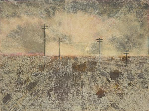 Landscape with Telegraph Poles (About 1951 - 1952)