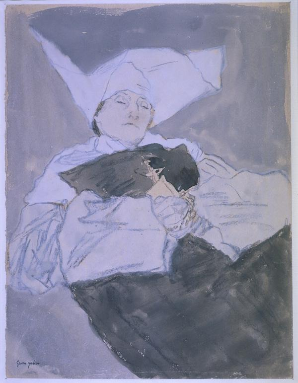 A Nun on her Deathbed (About 1914 - 1918)