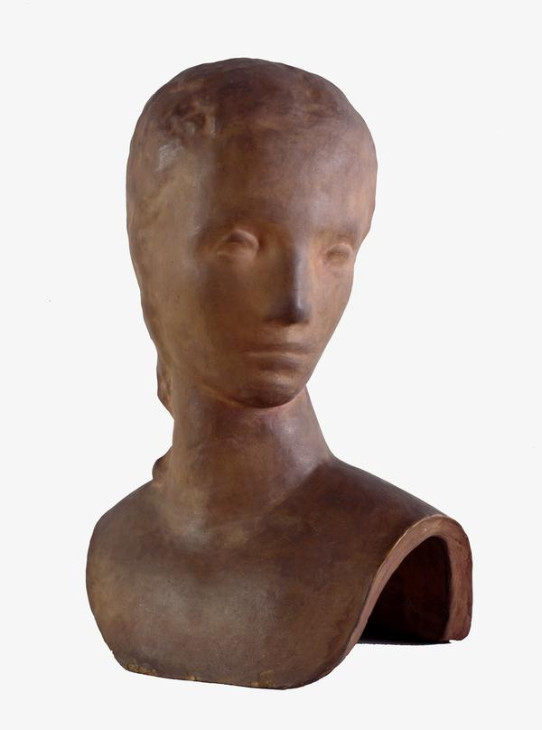 Mädchenkopf, sich umwendend (Head of a Girl Looking Over her Shoulder) (1913 - 1914 (posthumous cast))