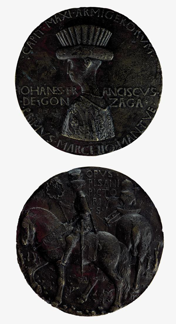 Gianfrancesco Gonzaga, 1st Marquis of Mantua (1395 - 1444) (Reverse: The Marquis Riding with a Squire) (About 1439)