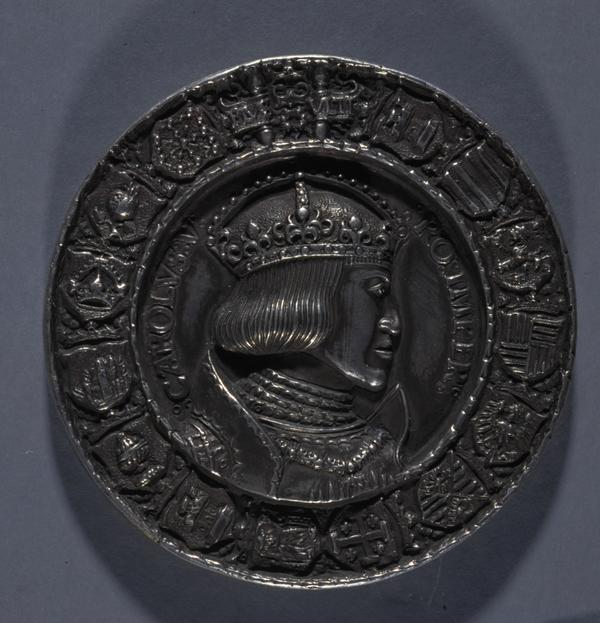 Dedication Medal of the City of Nuremberg for Emperor Charles V (1500 - 1558) (Reverse: The Imperial Double-Headed Eagle of the Holy Roman Empire... (1521)