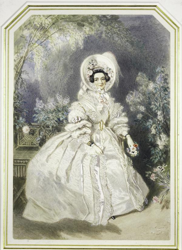 H.R.H. Victoria Mary Louisa, Duchess of Kent, 1786 - 1861. Mother of Queen Victoria (1838)
