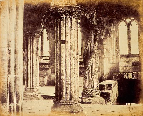 Rosslyn Chapel Apprentice Pillar (About 1860)