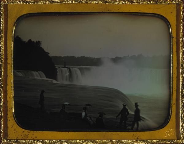 Tourists Viewing Niagara Falls from Prospect Point