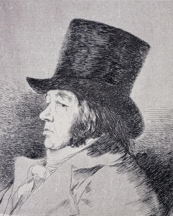 Francisco Goya Y Lucientes (Self-Portrait), Plate 1 of Los Caprichos (1797)