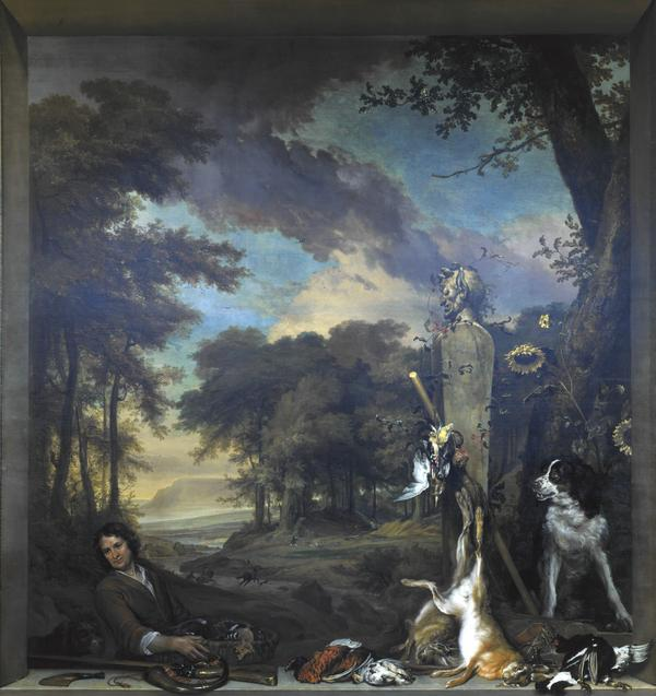 Landscape with a Huntsmen and Dead Game (Allegory of the Sense of Smell) (1697)