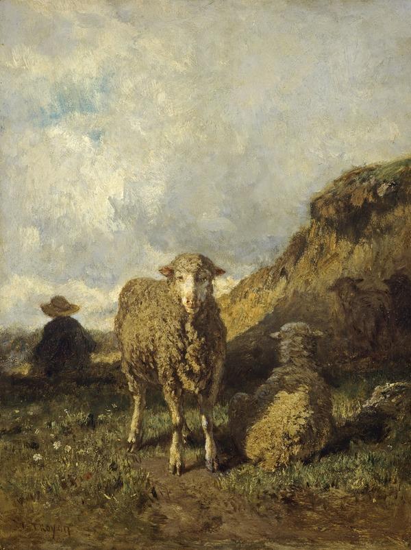 Sheep and Shepherd (1849 - 1865)