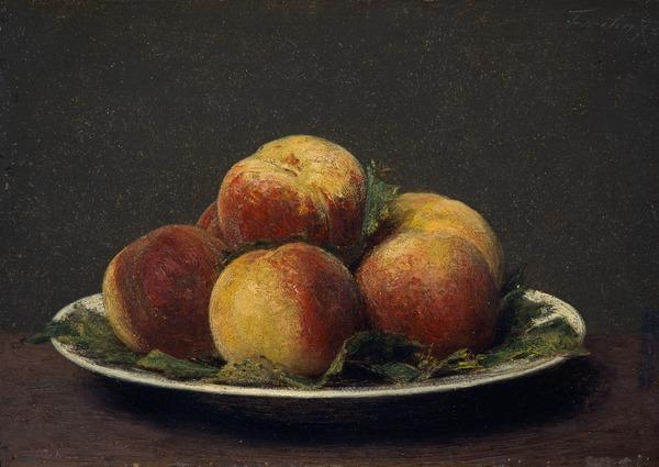 Peaches on a Dish (Dated 1873)