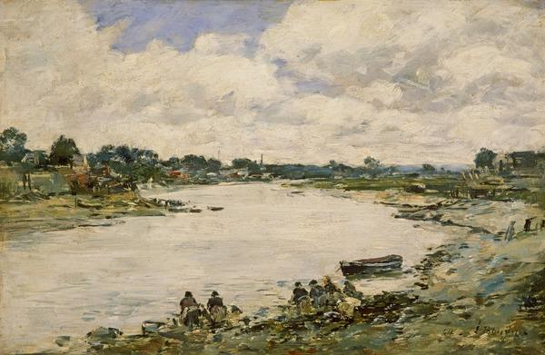 Washerwomen on the Banks of the Touques (Dated 1894)