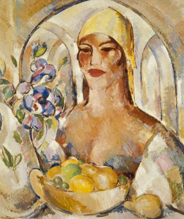In the Patio: Margaret Morris Fergusson (1925)