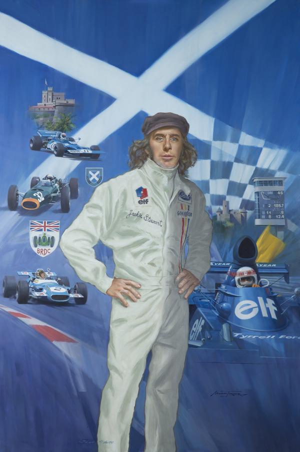 Sir Jackie Stewart, b. 1939. Racing Driver (2012)