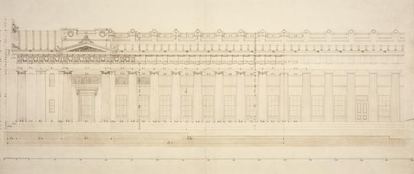 Eastern Elevation of the Royal Institution, Edinburgh (now the Royal Scottish Academy Building) (1832)