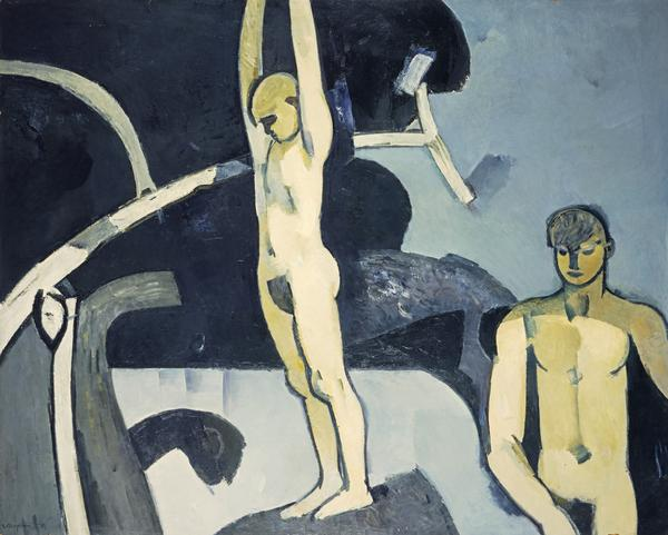 Landscape with Two Bathers (The Diver) (1954)