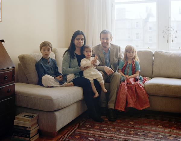 Sana Bilgrami with her Family, Edinburgh, 2 July 2011. From A Scottish Family Portrait series (2011)