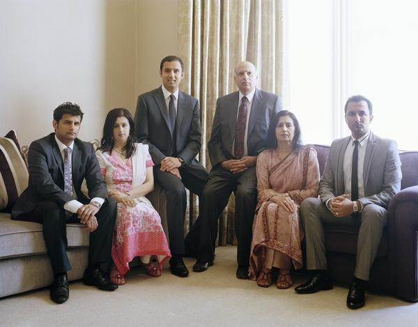 Mohammad and Anas Sarwar with their Family, Glasgow, 9 July 2011. From A Scottish Family Portrait series (2011)