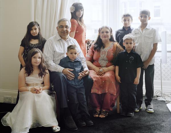 Shaheen Unis with her Husband and Grandchildren, Edinburgh, 19 June 2011. From A Scottish Family Portrait series (2011)