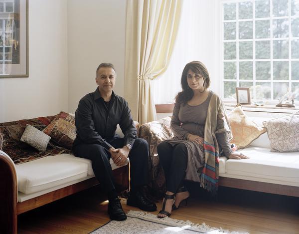 Nosheena Mobarik OBE and Iqbal Mobarik, Glasgow, 29 May 2011. From A Scottish Family Portrait series (2011)
