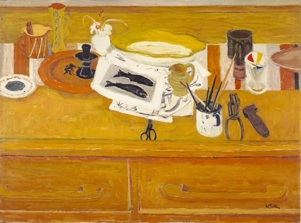 Still Life with Black Fishes (1965)