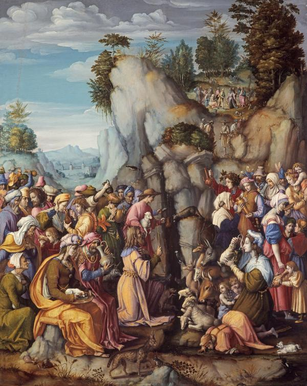 Moses Striking the Rock (after 1525)