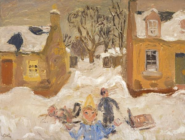 Snow from the Studio Window (The Gordon Children) (About 1947)