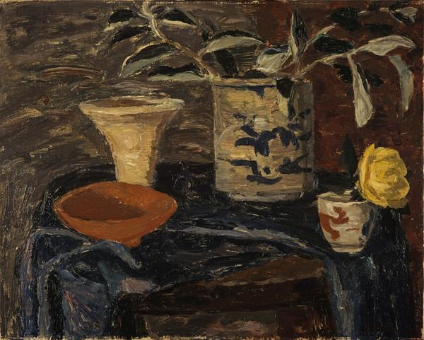 Still Life on a Blue Cloth (About 1945 - 1950)