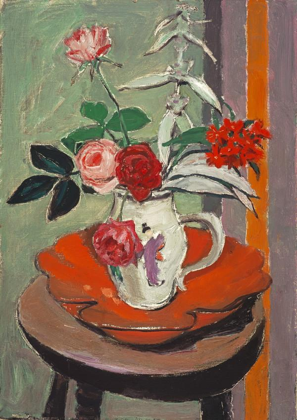 Still Life, Flowers on a Round Stool (About 1959)